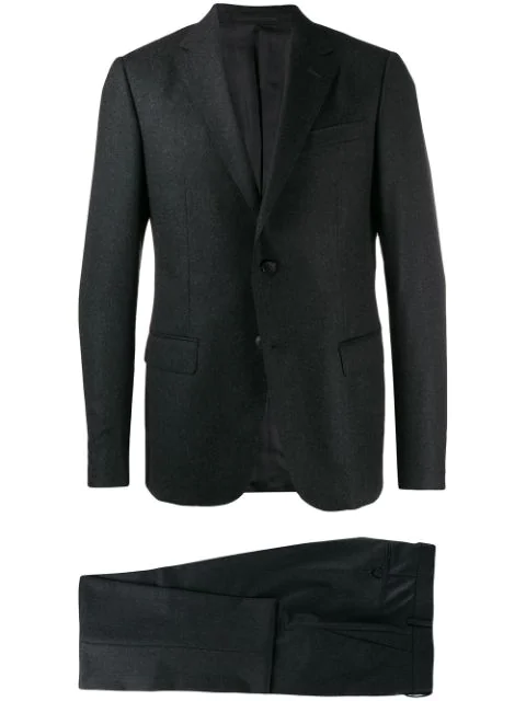 Z Zegna Classic Two-piece Suit In Grey
