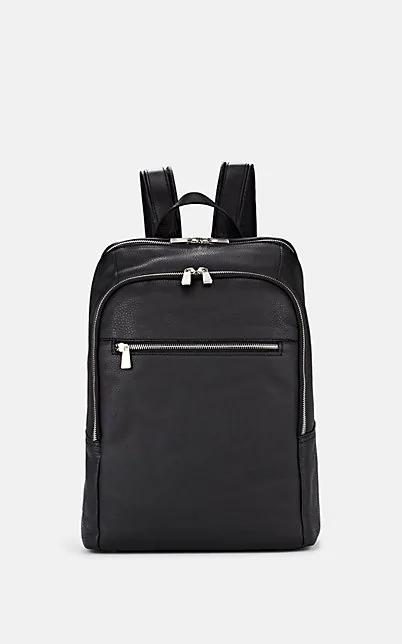 Barneys New York Leather Backpack - Black