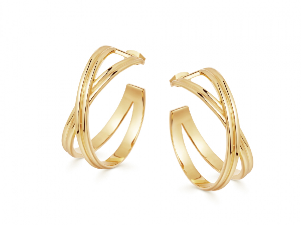 Missoma Infini Medium 18Kt Gold Vermeil Hoop Earrings