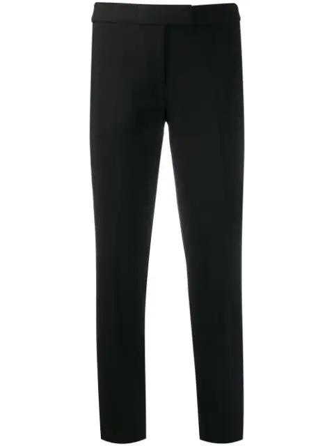Michael Kors Samantha Stretch-wool Gabardine Pants In Black