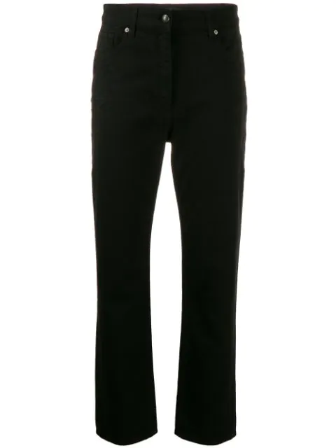 Etro Embroidered Cropped Jeans In 1 Black