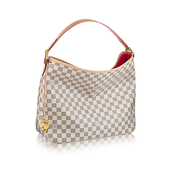 Louis Vuitton Delightful Pm In Damier Azur Canvas