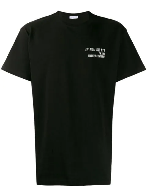 Ih Nom Uh Nit Logo & Quote Print Cotton Jersey T-shirt In Black