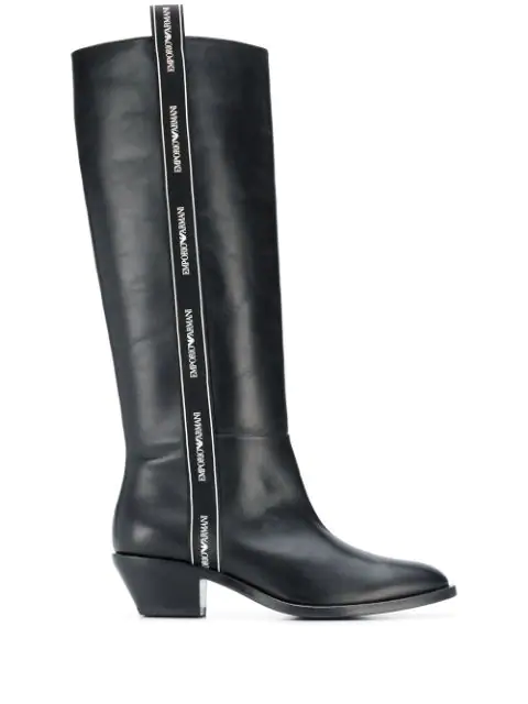 Emporio Armani Boots - Item 11756968 In B133 Black