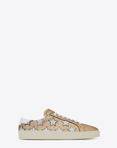 b0328a6e012 Saint Laurent Signature Court Classic Sl/06 California Sneaker In Gold,  Silver And Optic