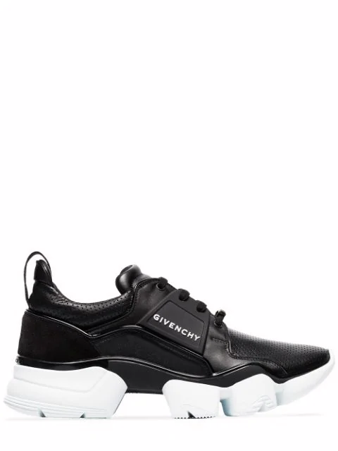 Givenchy Jaw Raised Sole Low Top Leather Trainers In 001 Black