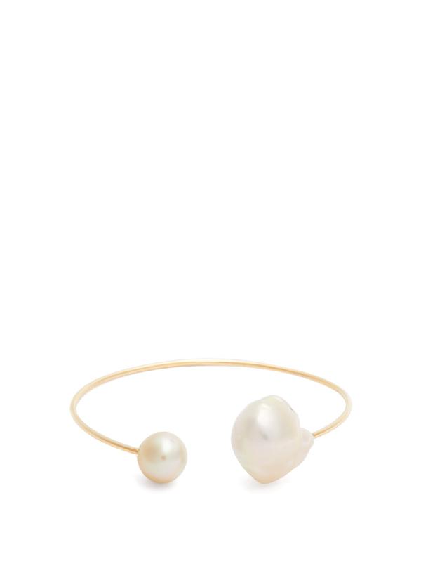 Nadia Shelbaya 105 Daburo Pearl & 18kt Gold Cuff