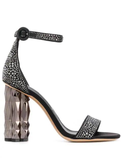 Salvatore Ferragamo Women's Azalea Embellished Block Heel Sandals In 001 Black
