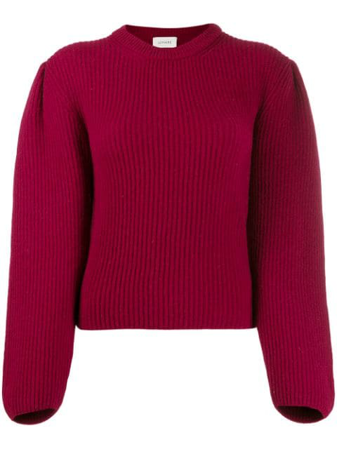 Lemaire Ribbed Knit Jumper In Red