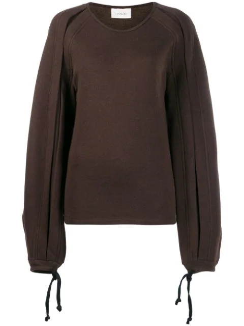 Lemaire Pullover Mit Knotendetail In Brown