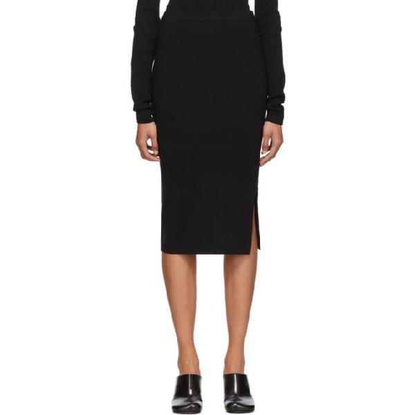 Joseph Midi Pencil Skirt In 0010 Black