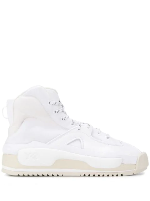 Y-3 Hokori Ankle Boots In White