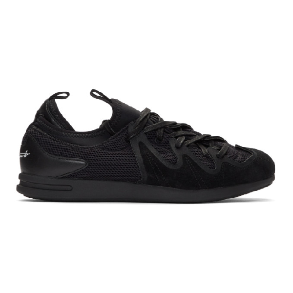 Y-3 Black  Manja Sneakers In Black/black/white