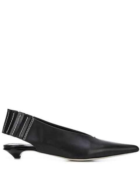 Proenza Schouler Pointed Toe Slingbacks In Black
