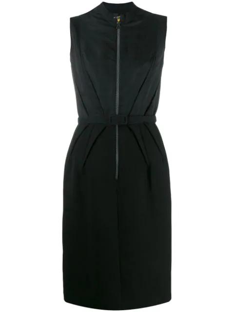 Lanvin 2007's Zip Front Dress In Black