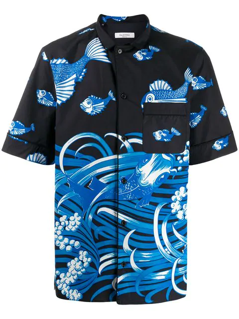 Valentino Men's Couture Archive Short-Sleeve Sport Shirt In Iym