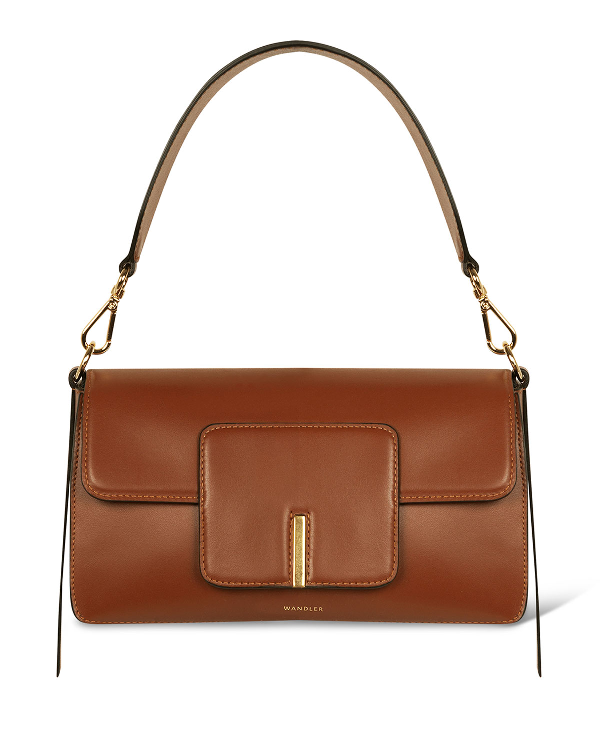 Wandler Georgia Leather Shoulder Bag In Brown