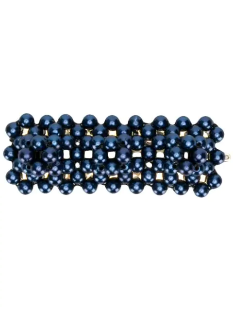 Shrimps Antonia Bead-Embellished Hair Clip In Blue
