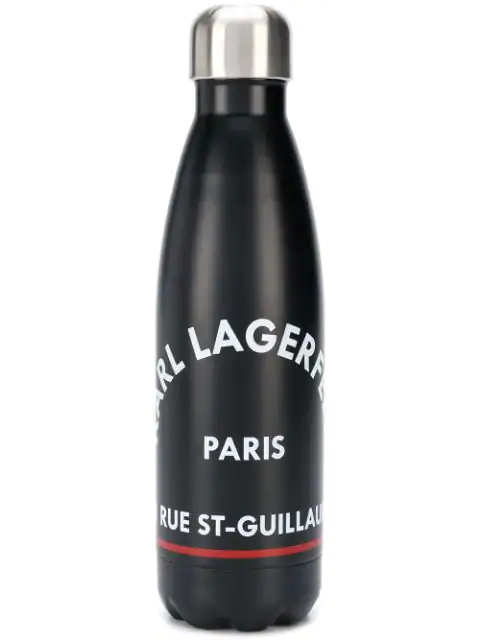 Karl Lagerfeld Rue St Guillaume Water Bottle In Black