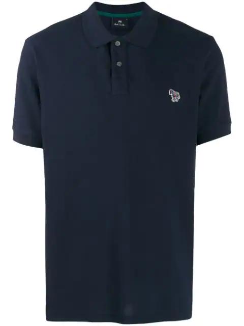 Ps By Paul Smith Ps Paul Smith Zebra Logo Polo Shirt In Blue