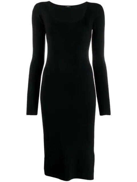 Joseph Pencil Midi Dress In Black
