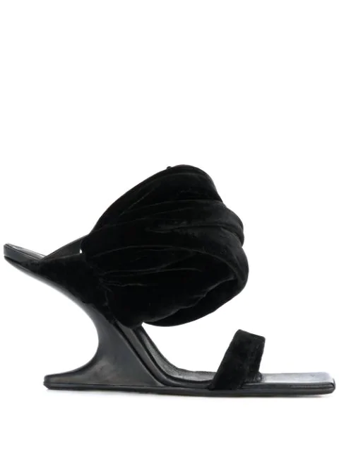Rick Owens Oversized Ankle Strap Sandals In Black