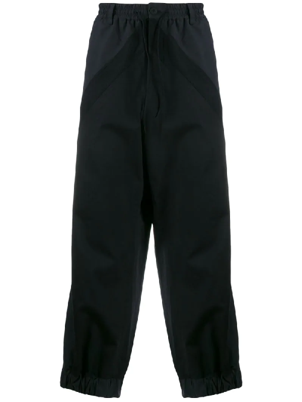 Y-3 Wide-leg Track Pants In Black