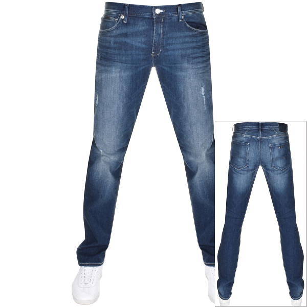 los angeles half off classic styles J16 Straight Fit Jeans Blue
