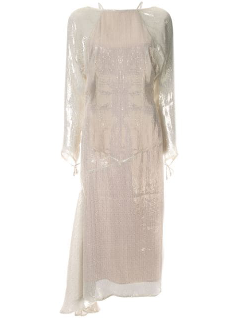 Alice Mccall Champers LamÉ Dress In Gold