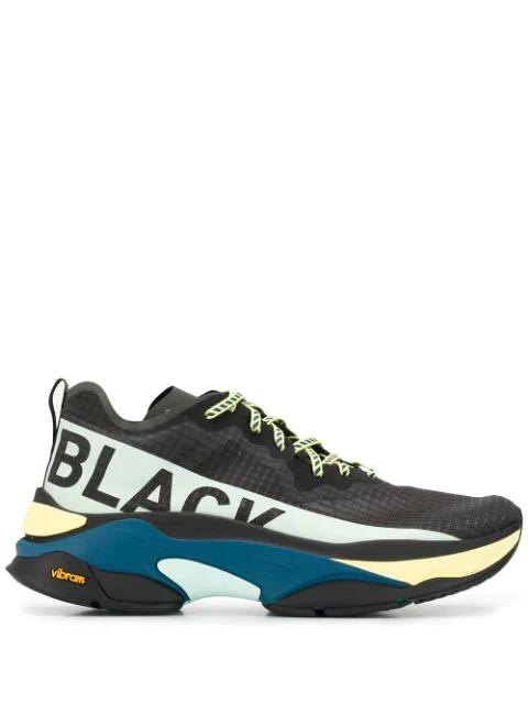 Brandblack Chunky Low Top Sneakers In Black