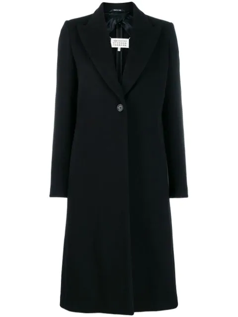 Maison Margiela Single-breasted Coat In Black