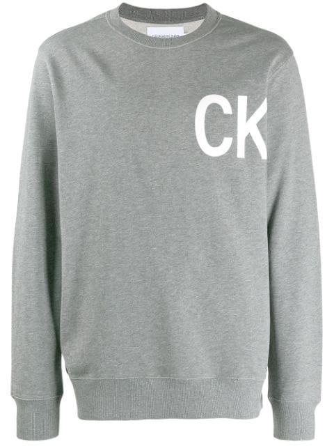 Calvin Klein Jeans Est.1978 Ck Sweatshirt In Grey