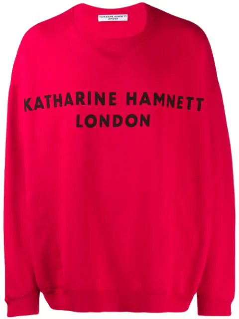 Katharine Hamnett Oversized Logo Sweatshirt In Red