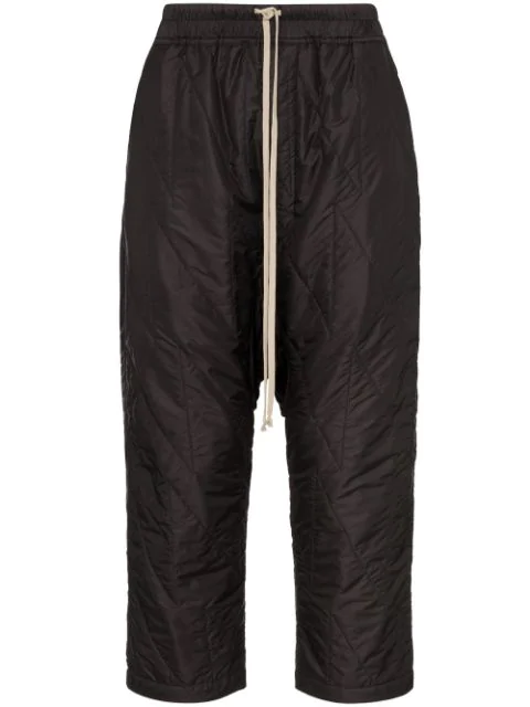 Rick Owens Drkshdw Padded Drop Crotch Trousers In  Black
