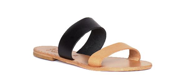 Joie A La Plage 'Sable' Leather Slip-On Sandal (Women) In Black,Natural