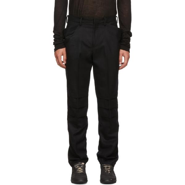 Almostblack Black Wool Trousers
