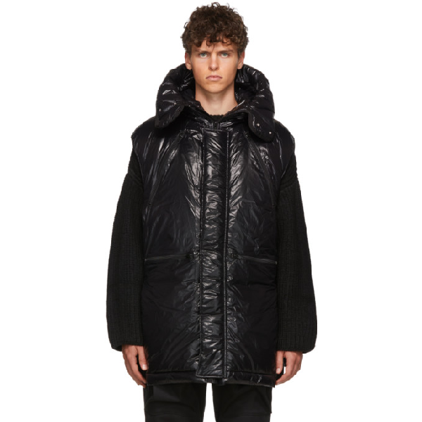 Almostblack Black Nylon Vest