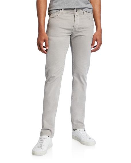 Jacob Cohen Men's Brushed Denim 5-pocket Jeans, Light Gray