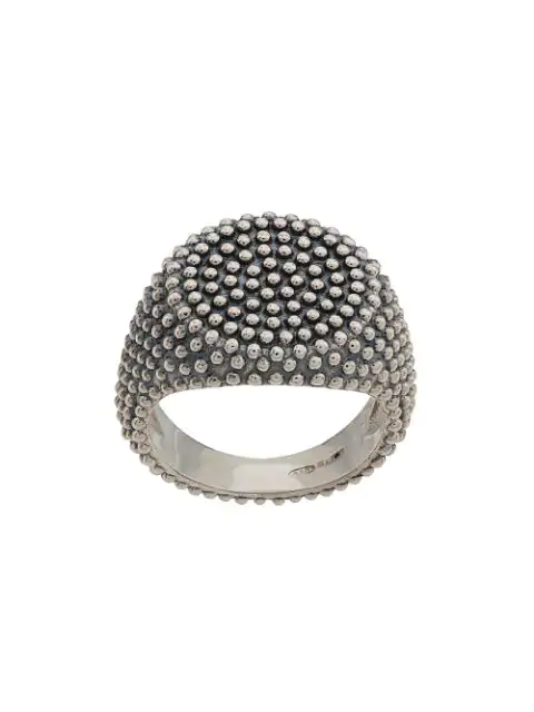 Nove25 Texturierter Ring In Silver