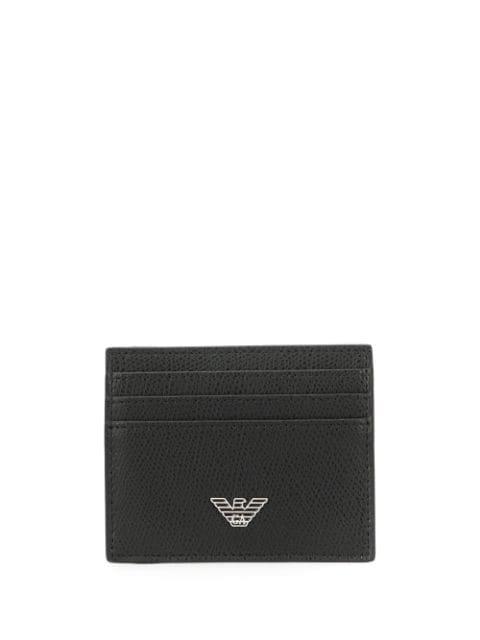 Emporio Armani Eagle Logo Cardholder In Black