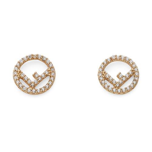 Fendi F Is  Earrings In Dore