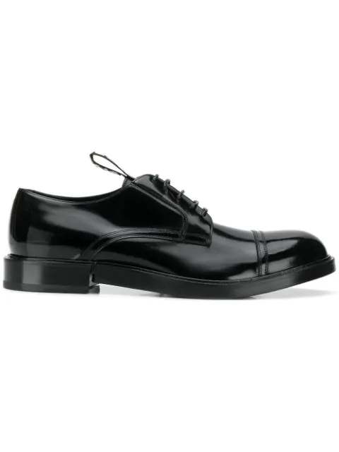 Dolce & Gabbana Classic Leather Lace Up Laced Formal Shoes Derby In 80999 Nero