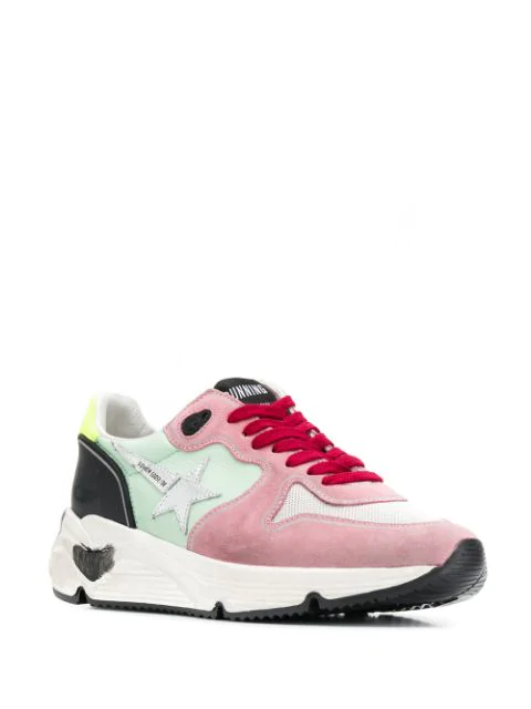 Golden Goose Running Sole Mesh & Leather Sneakers In Pink/Light Blue