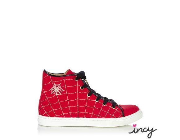 Charlotte Olympia Incy Web High Tops In Red