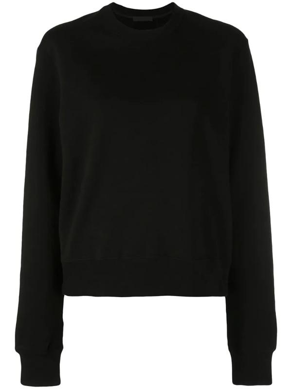 Wardrobe.nyc Release 02 Round-neck Cotton-jersey Sweatshirt In Black