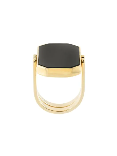 Julia Davidian Convertible Octagonal Ring In Gold