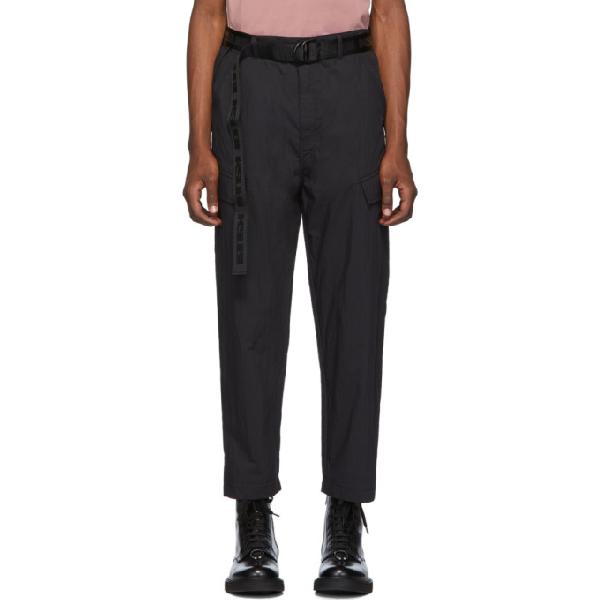 Ksubi Downtown Belted Cargo Pants In 1 Black