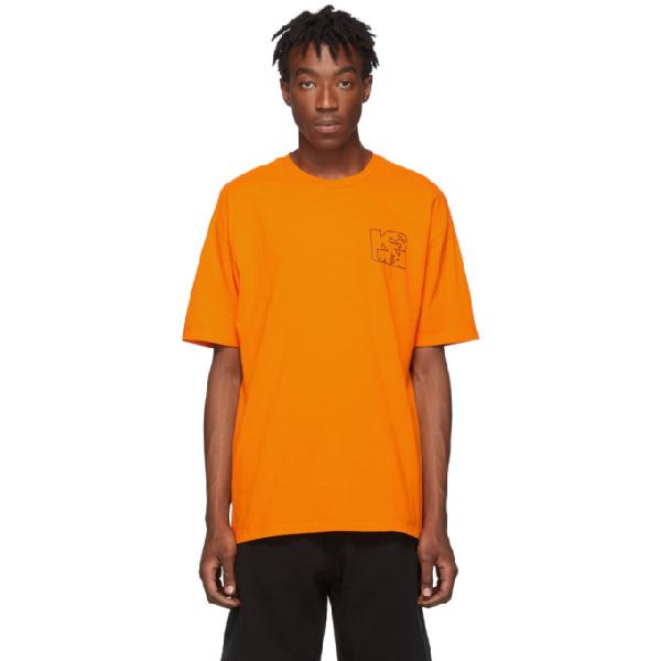 Ksubi Orange Hazard Square T-shirt