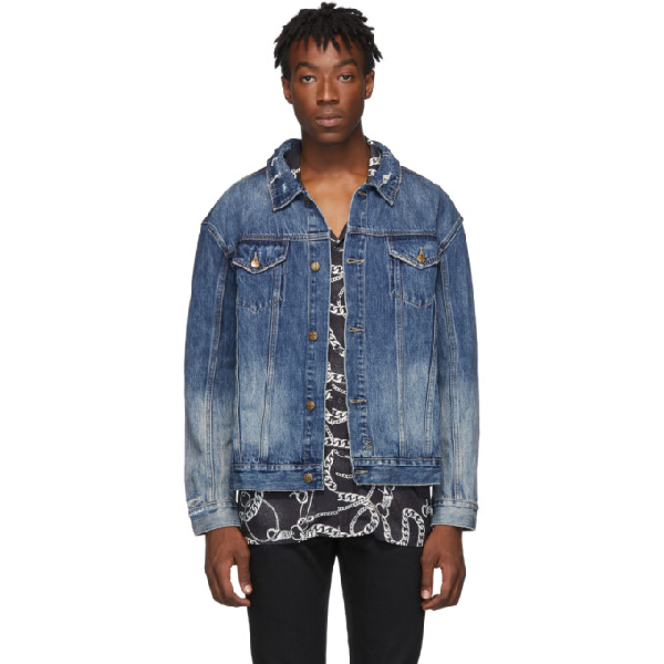 Ksubi Men's Oh G No Rules Fancy Dollar Denim Jacket In 98 Denim