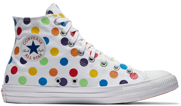 Pre-owned Converse  Chuck Taylor All-star High Miley Cyrus Pride 2018 (w) In White